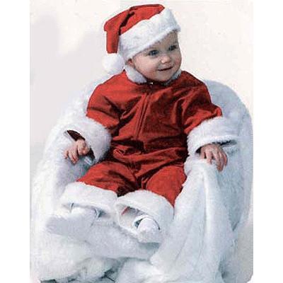 Baby kerstmannen kostuum/verkleedkleding
