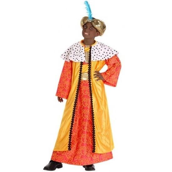 Casper drie wijzen kostuum voor kids geel